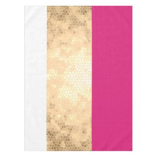 elegante duidelijke faux gouden roze witte strepen tafelkleed