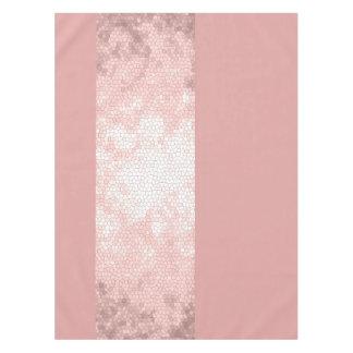 elegante duidelijke faux nam gouden roze strepen tafelkleed