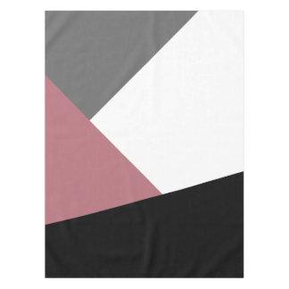 elegante duidelijke stoffige roze, zwarte, grijze tafelkleed