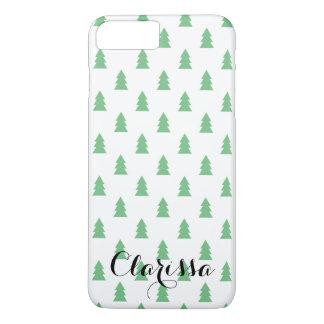 Elegante Eenvoudige groene het patroonpastelkleur iPhone 8/7 Plus Hoesje