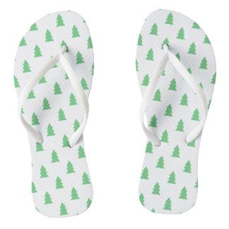 Elegante Eenvoudige groene het patroonpastelkleur Teenslippers