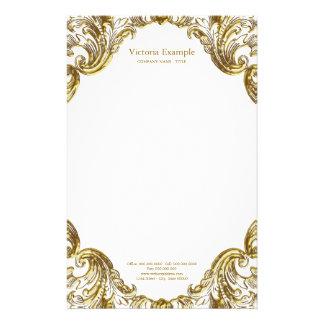 Elegante Fancy Gouden Werveling Briefpapier