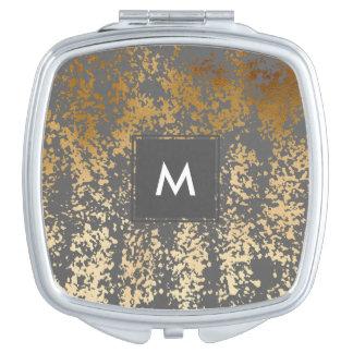 elegante faux gouden folie en grijze makeup spiegeltjes