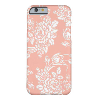 Elegante Gebeeldhouwde Witte Rozen en Tulpen Barely There iPhone 6 Hoesje