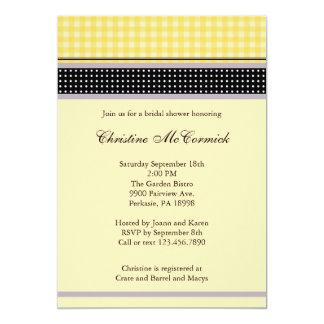 Elegante Gele en Zwarte Uitnodiging