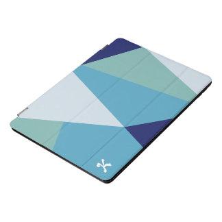 Elegante geometrisch marineblauwe en zee groene iPad pro cover