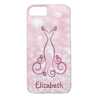 Elegante Girly Glittery Bokeh - Gepersonaliseerde iPhone 8/7 Hoesje