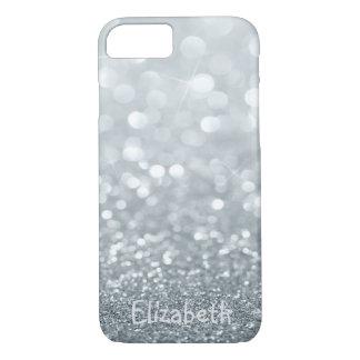 Elegante Girly Glittery Gepersonaliseerde Bokeh - iPhone 8/7 Hoesje