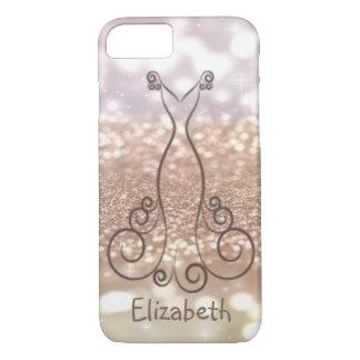 Elegante Girly Glittery kleding-Gepersonaliseerde iPhone 8/7 Hoesje