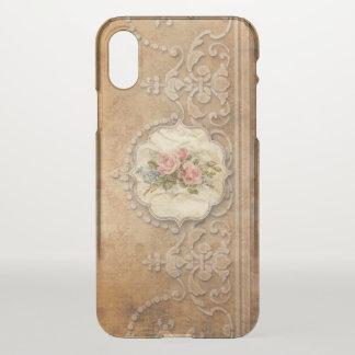 Elegante Goud In reliëf gemaakte Stijl Filigraan iPhone X Hoesje