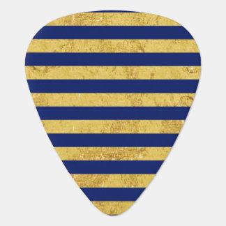 Elegante Gouden Folie en het Blauwe Patroon van de Gitaar Plectrums 0