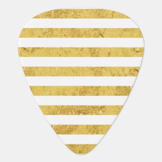 Elegante Gouden Folie en het Witte Patroon van de Gitaar Plectrums 0
