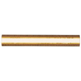 Elegante Gouden Folie en het Witte Patroon van de Kersen Liniaal