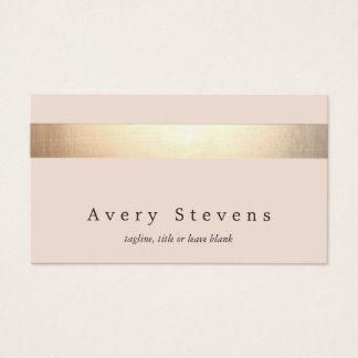 Elegante Gouden Gestreept (geen glans) Moderne Visitekaartjes