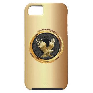 Elegante Gouden iPhone 5 van het Kenteken van Eagl Tough iPhone 5 Hoesje