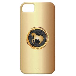 Elegante Gouden iPhone 5 van het Paard Hoesje