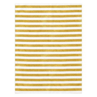 Elegante Gouden Streep - Douane Uw Kleur Tafelkleed