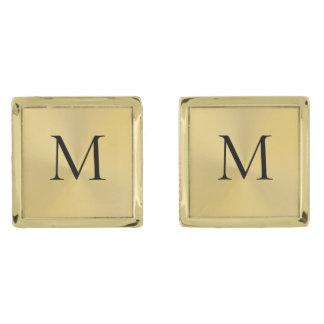 Elegante Gouden Vierkante Cufflinks van het Vergulde Manchetknopen