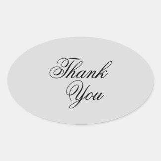 Elegante grijs & de zwarte dankt u stickers