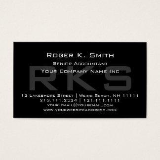 Elegante Grijs op de Zwarte Schrijver uit de Visitekaartjes