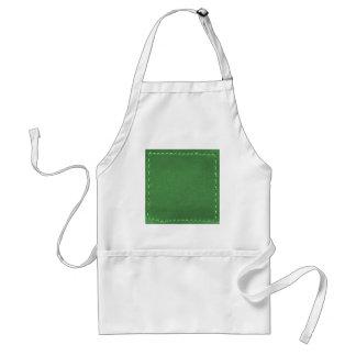 Elegante Groen Het leer kijkt Artistieke Giften Schorten