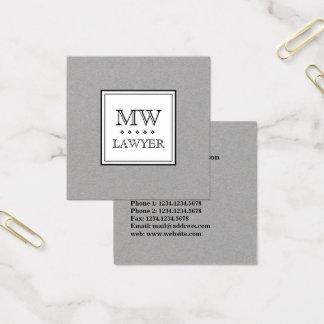 Elegante het logostijl van de elegantienaam vierkante visitekaartjes