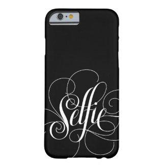"""Elegante het Van letters voorzien """"Selfie"""" Zwarte Barely There iPhone 6 Hoesje"""
