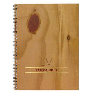 elegante houten textuur, plattelander & notitieboek