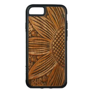 Elegante Houten Zonnebloem die Hout Carved® snijdt Carved iPhone 8/7 Hoesje