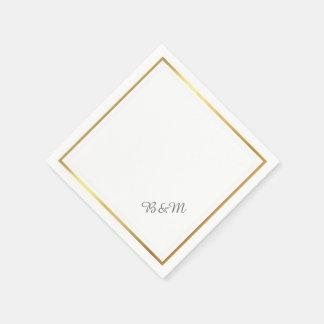 elegante huwelijks reception_party witte papieren servet