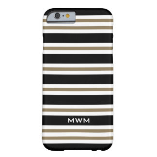 ELEGANTE IPHONE6 CASE_CAMEL/BLACK/WHITE STREPEN #3 BARELY THERE iPhone 6 HOESJE
