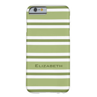 ELEGANTE IPHONE6 CASE_GREEN/GREEN/WHITE STREPEN #2 BARELY THERE iPhone 6 HOESJE