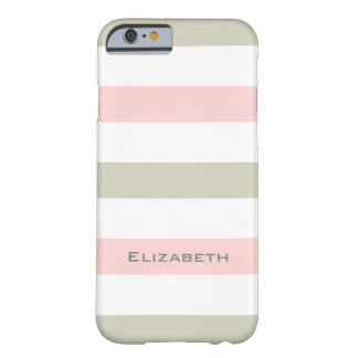 ELEGANTE IPHONE6 CASE_PINK/LINEN/WHITE STREPEN #1 BARELY THERE iPhone 6 HOESJE