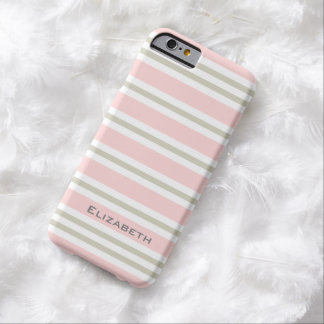 ELEGANTE IPHONE6 CASE_PINK/PINK/WHITE STREPEN #3 BARELY THERE iPhone 6 HOESJE