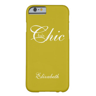 "ELEGANTE IPHONE6 CASE_ "" tresChic"" YELLOW/WHITE Barely There iPhone 6 Hoesje"