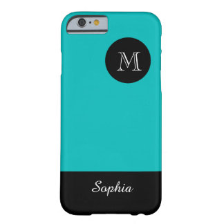 ELEGANTE IPHONE6 CASE_TURQUOISE/BLACK BARELY THERE iPhone 6 HOESJE