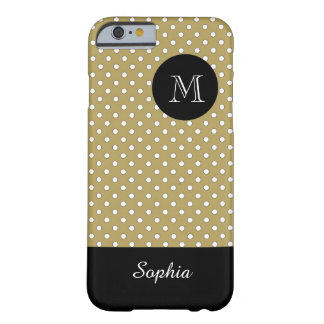 ELEGANTE IPHONE6 CASE_WHITE/45 TAN/DOTS BARELY THERE iPhone 6 HOESJE