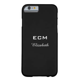 ELEGANTE IPHONE6 CASE_ WITTE INITIALS/NAME OP BARELY THERE iPhone 6 HOESJE