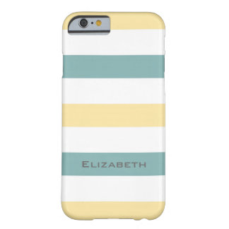 ELEGANTE IPHONE6 CASE_YELLOW/SEAFOAM/WHITE STREPEN BARELY THERE iPhone 6 HOESJE