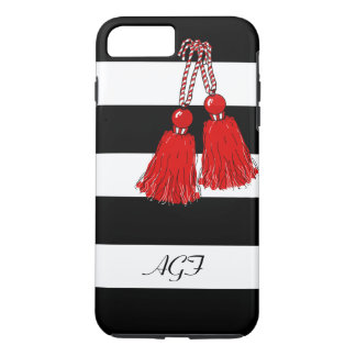 ELEGANTE iPhone7 CASE_GIRLY RODE TASSELS/BLACK iPhone 7 Plus Hoesje