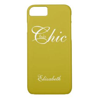 "ELEGANTE IPHONE7 CASE_ "" tresChic"" YELLOW/WHITE iPhone 7 Hoesje"