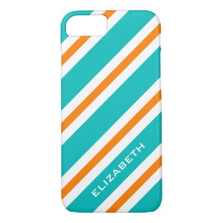 ELEGANTE iPhone7 CASE_TURQUOISE/ORANG/WHITE iPhone 7 Hoesje