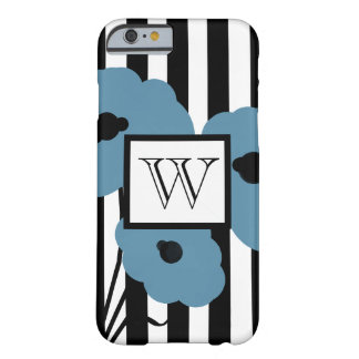ELEGANTE IPHONE 6 BLAUWE PAPAVERS CASE_MOD BARELY THERE iPhone 6 HOESJE