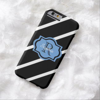 ELEGANTE IPHONE 6 CASE_153 BLAUW, STREPEN BARELY THERE iPhone 6 HOESJE