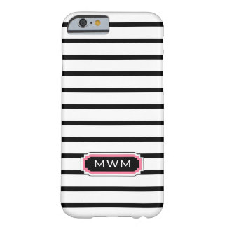 ELEGANTE IPHONE 6 CASE_BLACK/WHITE/PINK BARELY THERE iPhone 6 HOESJE