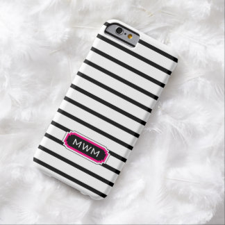 ELEGANTE IPHONE 6 ROZE CASE_BLACK/WHITE/HOT BARELY THERE iPhone 6 HOESJE