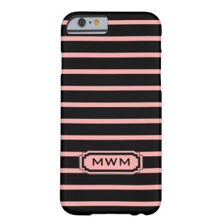 ELEGANTE IPHONE 6 STREPEN CASE_04 BLUSH/BLACK BARELY THERE iPhone 6 HOESJE
