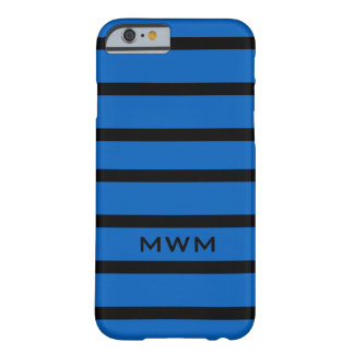 ELEGANTE IPHONE 6 STREPEN CASE_154 BLUE/BLACK BARELY THERE iPhone 6 HOESJE