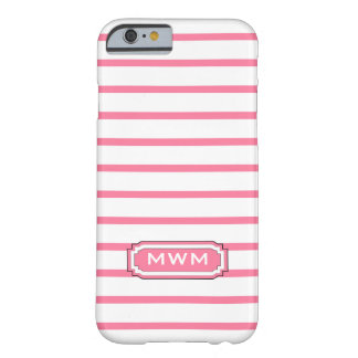 ELEGANTE IPHONE 6 STREPEN CASE_241 PINK/WHITE BARELY THERE iPhone 6 HOESJE