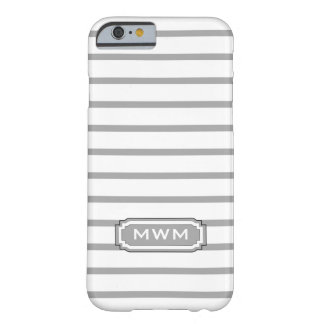 ELEGANTE IPHONE 6 STREPEN CASE_252 SILVER/WHITE BARELY THERE iPhone 6 HOESJE